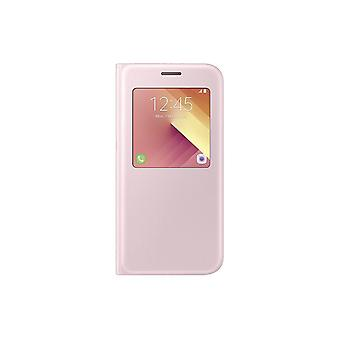 Samsung EF−CA520PPEG S-view Flip fodral cover A520F Galaxy A5 2017, rosa