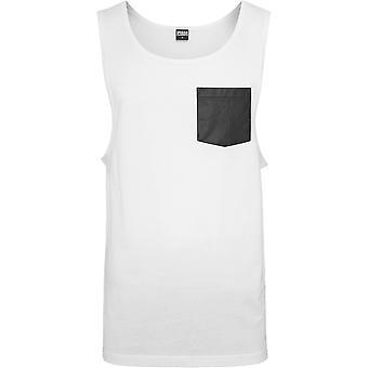 Urban classics men's leather imitation Pocket loose tank top