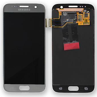 Display LCD Komplettset Silber für Samsung Galaxy S7 G930 G930F GH97-18523B