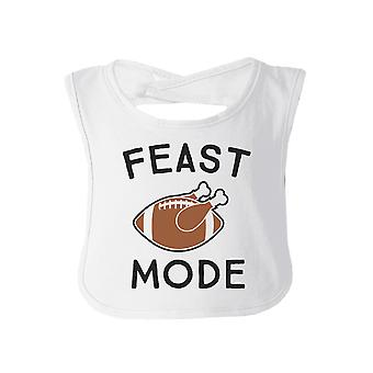 Feast Mode White Thanksgiving Baby Bib Funny Holiday Gift For Baby
