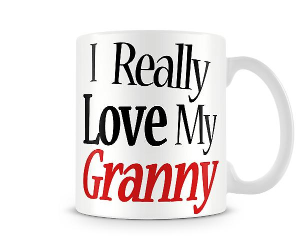I Really Love My Granny Printed Mug