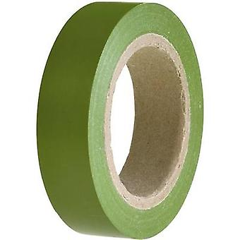 Electrical tape HelaTape Flex 15 Green (L x W) 10 m x 15 mm Hell