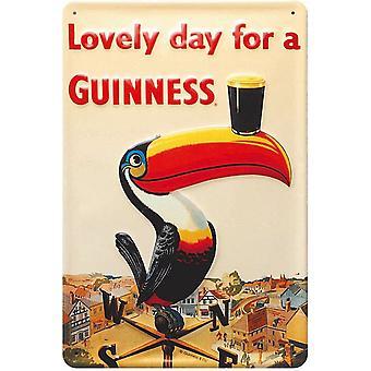 Guinness Toucan cata gravado Metal assinar 300 X 200 Mm