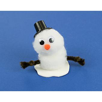 Snowman littlecraftybug Christmas Craft Kit for 10 Kids | Pom Pom Bug Crafts
