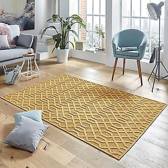 Design viscose rug Caine in relief appearance gold