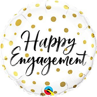 Qualatex 18in Happy Engagement Dots Foil Balloon