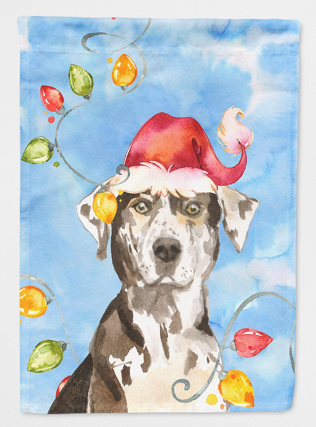 Christmas Lights Catahoula Leopard Dog drapeau toile maison Taille