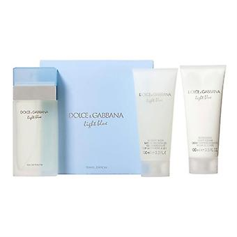 Light Blue by Dolce & Gabbana for Women 3 Piece Set