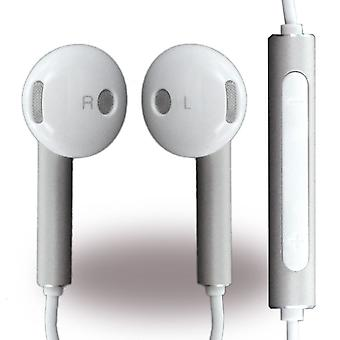Huawei bulk Am116 headset earphones with remote control, microphone white / silver for Smartphone