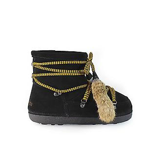 DSQUARED2 BLACK SUEDE SNOW BOOT