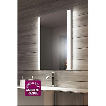Ambient Double Edge Bathroom Mirror with Shaver Socket k1114w