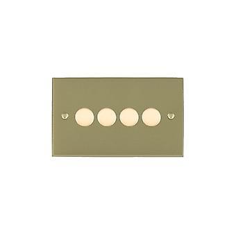 Hamilton Litestat Cheriton vittoriano ottone satinato 4G 100W LED Dimmer SB