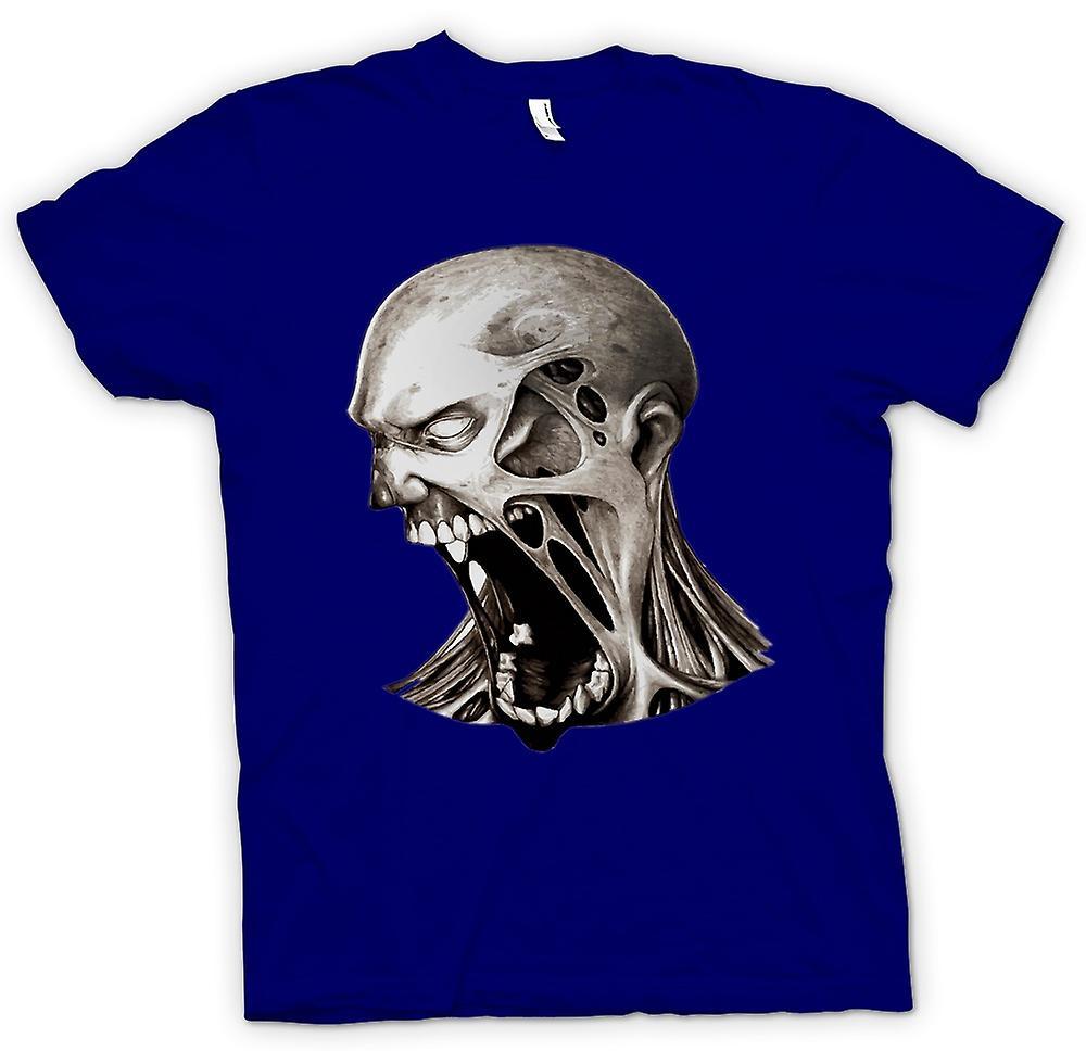 Hommes T-shirt - Zombie Undead Bouche - Horreur