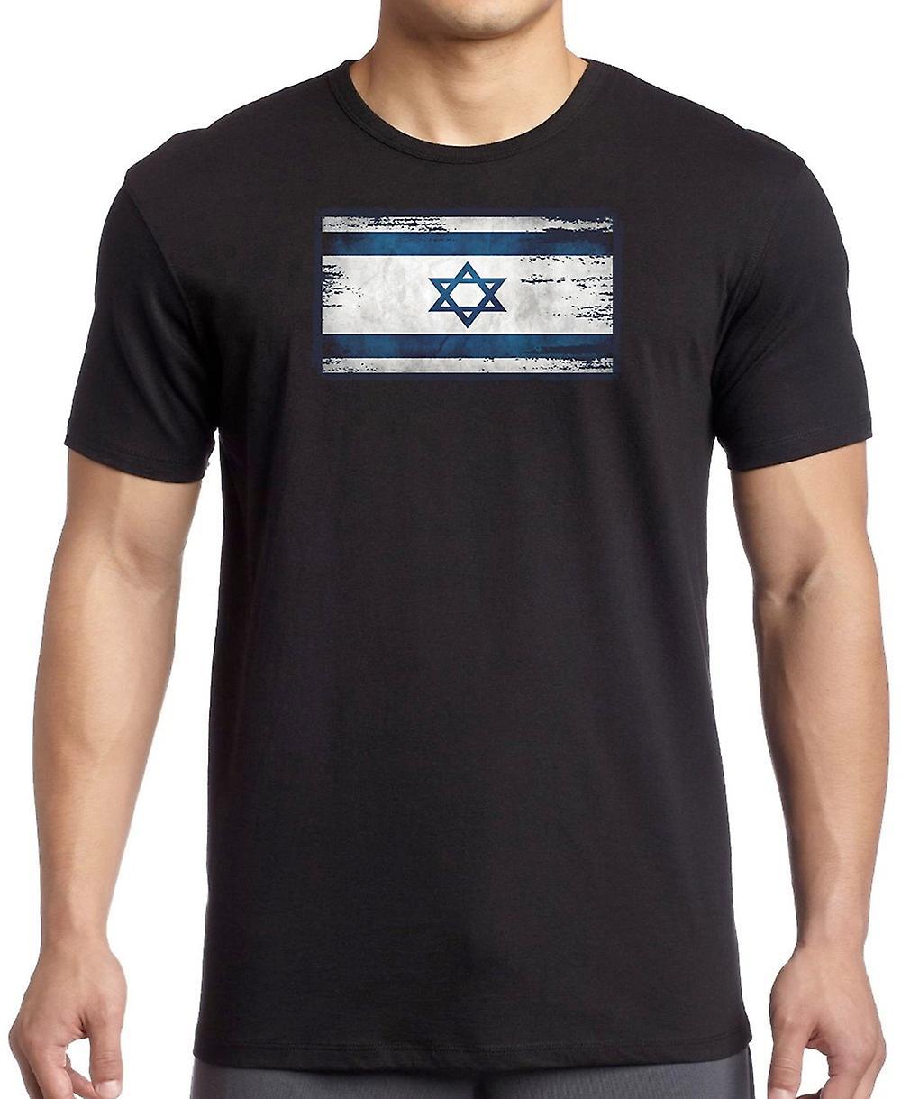 Isreali Isreal Grunge flaggan T Shirt