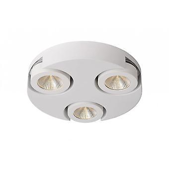 Lucide Mitrax-LED moderne Runde Aluminium White Spot Deckenleuchte