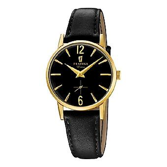 FESTINA - ladies Bracelet Watch - F20255/3 - classic leather strap - extra