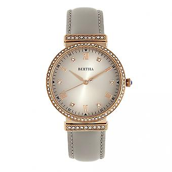 Bertha Allison Leather-Band Watch - Grey