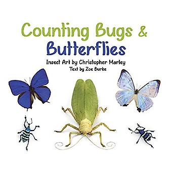 Counting Bugs & Butterflies: Insect Art by Christopher Marley Board Book [Board book]