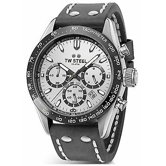 TW Steel | Gents Dark Grey Leather Strap | Silver Dial | CHS3 Watch