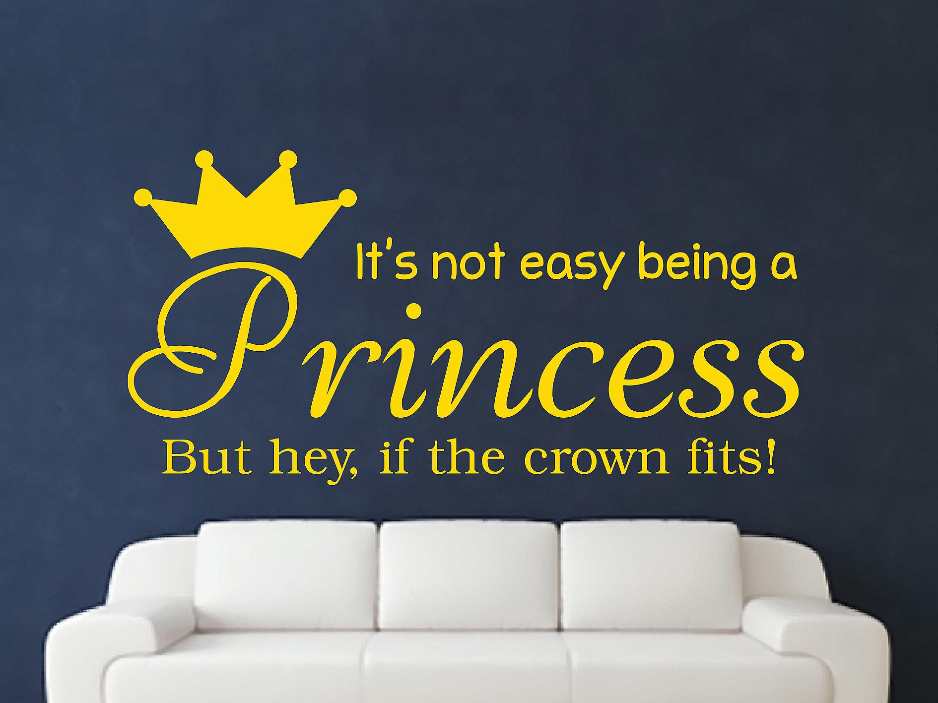 Being A Princess Wall Art Sticker - Dark Yellow