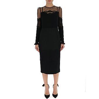 Dolce E Gabbana Black Cotton Dress