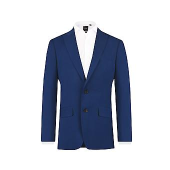 Dobell Boys Bright Blue Suit Jacket Regular Fit Notch Lapel