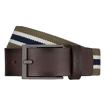 Strellson belts men's belts woven belt stretch belt olive/green 7947