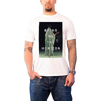 Bring Me The Horizon T Shirt Cloaked Band Logo Official Mens New White
