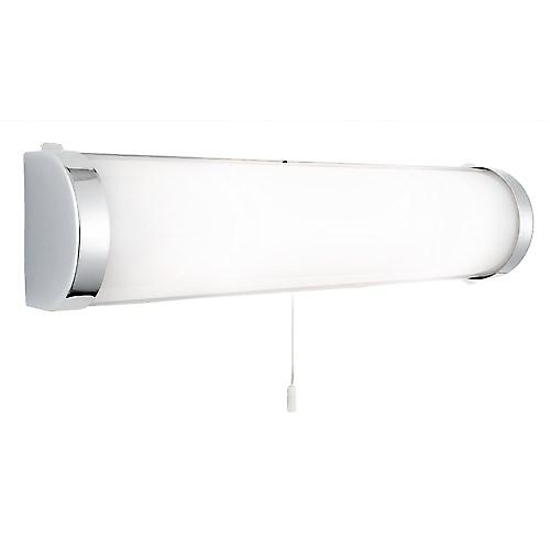 Searchlight 8293CC Bathroom Wall Light Switched Chrome With White Glass