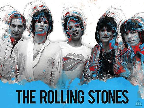 The Rolling Stones Poster Music Wall Art Print (24x18)