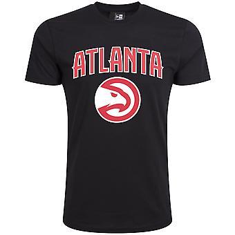 New era Basic shirt-NBA Atlanta Hawks preto