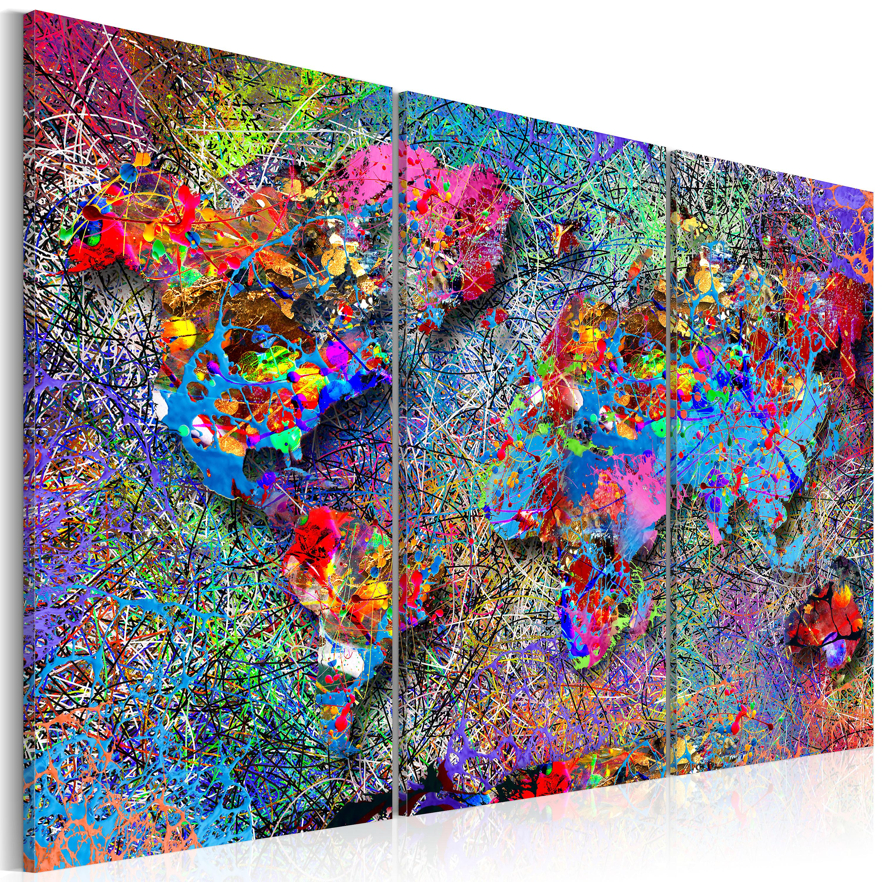 Tableau - World Map  Colourful Whirl
