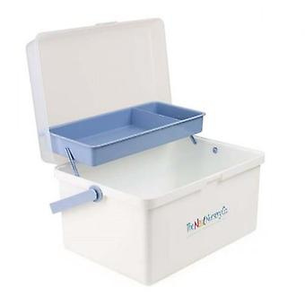 The Neat Nursery Co Baby Box Organiser White / Blue