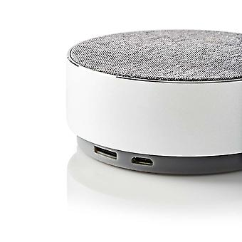 Nedis Wireless Bluetooth Speaker with Mic 9W Metal Crafted Design Aluminium Silver (iPhone/Android)