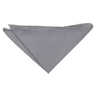 Cuadrado de bolsillo de ante gris
