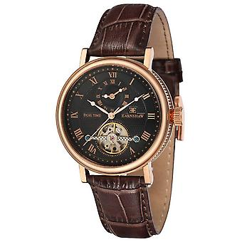 Thomas Earnshaw The Beaufort Watch - Black/Rose Gold/Brown