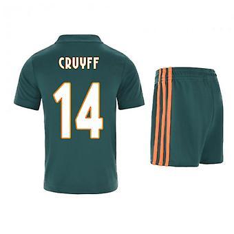 2019-2020 Ajax Adidas Auswärts Mini Kit (CRUYFF 14)