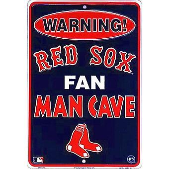 Boston Red Sox MLB Fan Man Cave Parking Sign