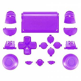 Full replacement button set mod kit for 2nd gen sony ps4 jdm-030 controllers - purple