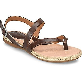 B.O.C Womens Lucila Leather Open Toe Casual Ankle Strap Sandals