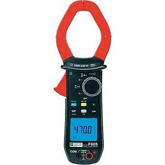 Current clamp, Handheld multimeter digital Chauvin Arnoux F605 Calibrated to: Manufacturer standards CAT IV 1000 V Disp