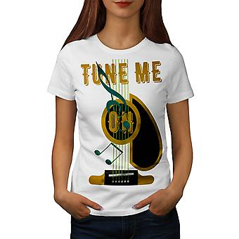 Tune Me On Guitar Music Women White T-shirt | Wellcoda