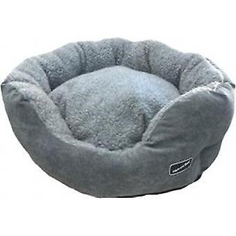 HEM & Boo polstret Oval Bed luksus Cloud Fleece grå/grå 80cm (32