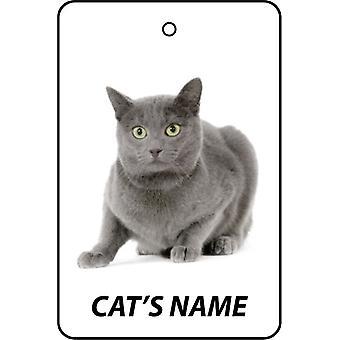 Personalisierte Chartreux Katze Auto-Lufterfrischer