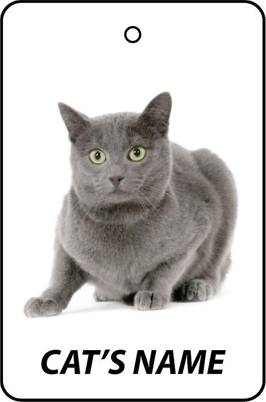 Personalised Chartreux Cat Car Air Freshener