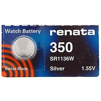 Renata 1.55 Volt Watch Battery 350 Replcaces - Pack of 10 (SR1136W)