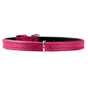 Hunter lille Petit 30 læder krave Pink 8 mm X 22,5-26,5 cm