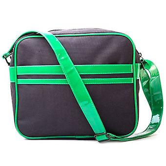 TEENAGE MUTANT NINJA TURTLES (TMNT) Messenger tas met gezichten Design, zwart/groen (MB301000TNT)