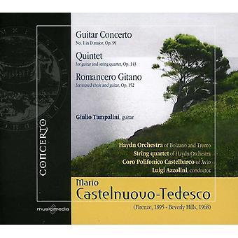 M. Castelnuovo-Tedesco - Mario Castelnuovo-Tedesco: Guitar Concerto; Kvintet; Romancero Gitano [CD] USA importerer