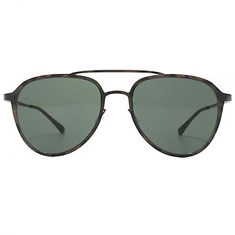 Italia Independent 0254 Thin Metal Base 2 Sunglasses In Dark Havana Militare